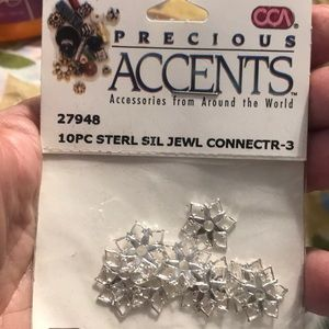 10 Pc Sterling Silver Jewelry Connectors SEALED